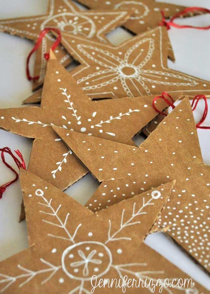 Cardboard Christmas Decorations Paper Christmas Ornaments