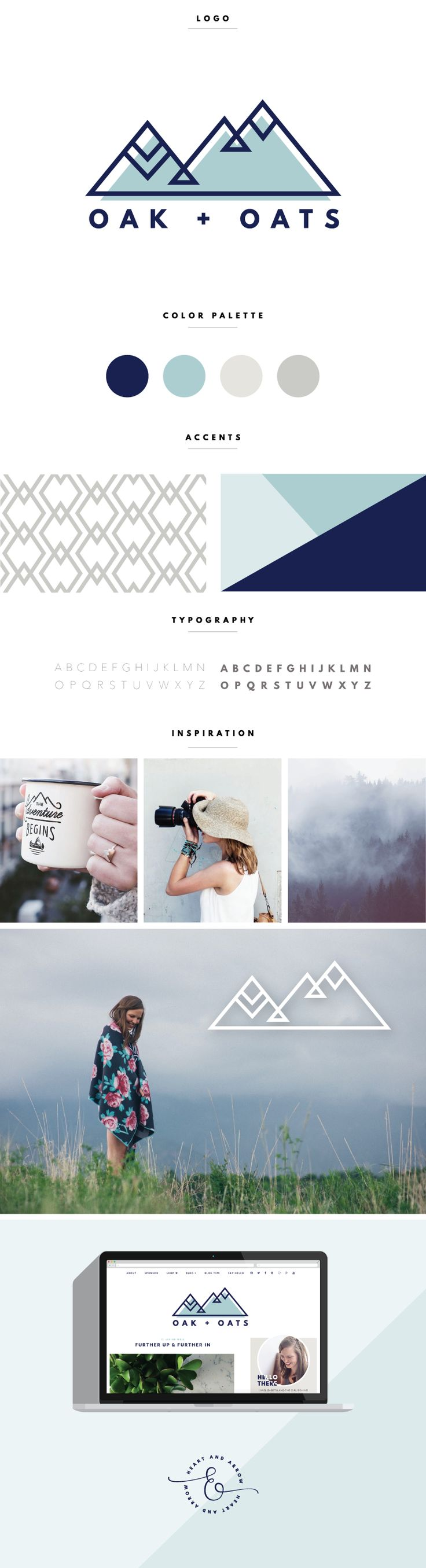 Modern Geometric Blog Logo and Design / by Heart & Arrow