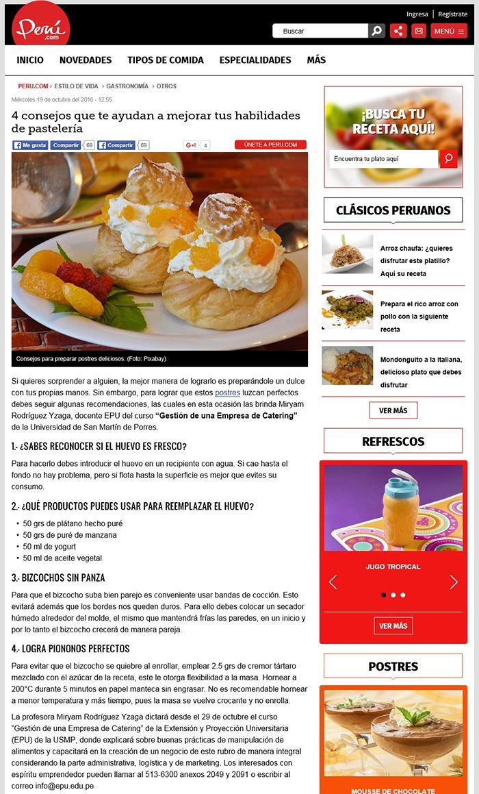 4 consejos que te ayudan a mejorar tus habilidades de pastelería. Portal Perú.com