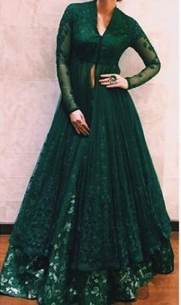 FatimaBi Plus size Dresses Indian Anarkali Lehenga Floor Length Dress #FatimaBi #LehegaCholi