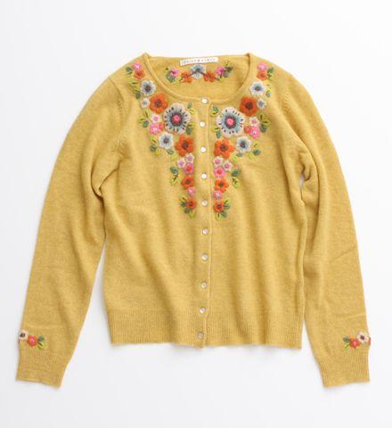 Amazing embroidered yellow cardigan.... it would be like wearing sunshine!