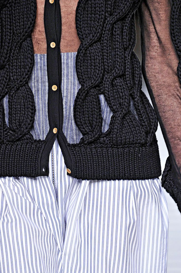 Mind seriously blown - how would you knit that? Cables at Fendi Spring 2012 RTW - Details - Fashion Week