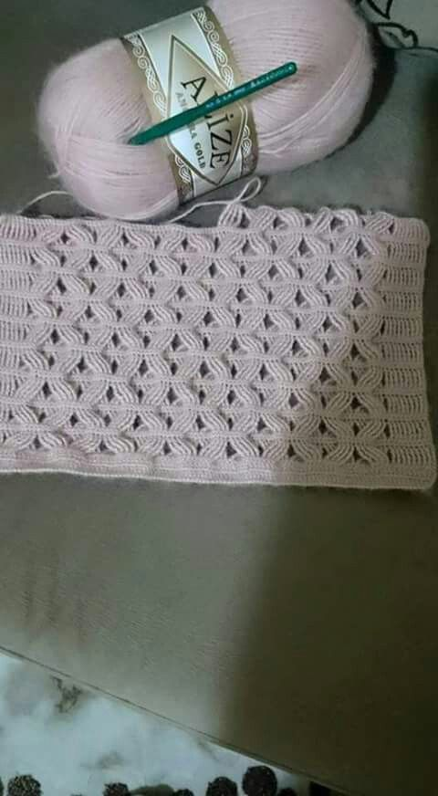 Very interesting crochet stitch