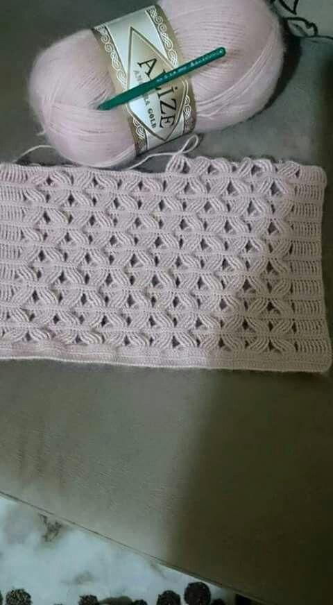 Very interesting crochet stitch