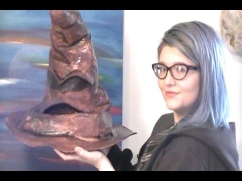 Make Your Own Hogwarts Sorting Hat with Paper Mache - YouTube