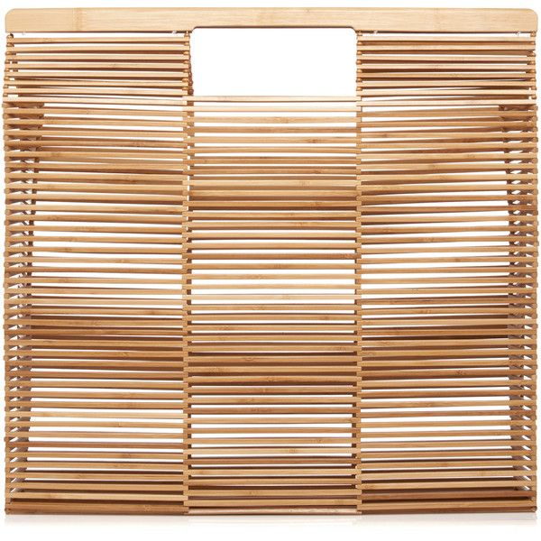 Cult Gaia Gaia's Big Square Tote (€195) ❤ liked on Polyvore featuring bags, handbags, tote bags, cult gaia, neutral, tote handbags, foldover handbags, handbag tote, fold over tote and beige tote handbags