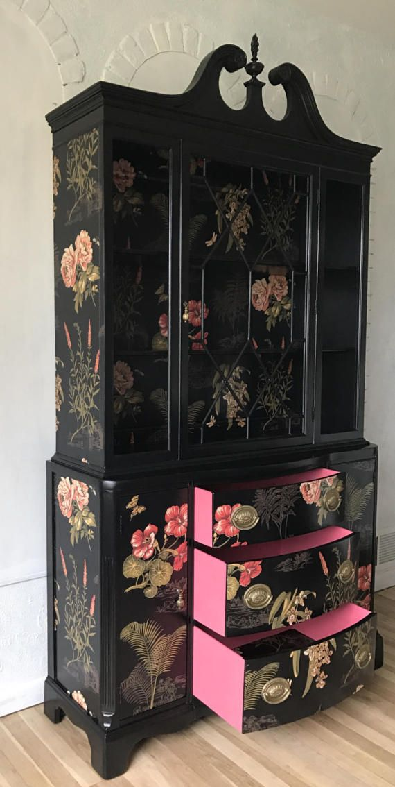 Beautiful-Beautiful Chinese tropical floral with coral accent interior painting. This piece is a robust construction of solid wood with a large quantity …