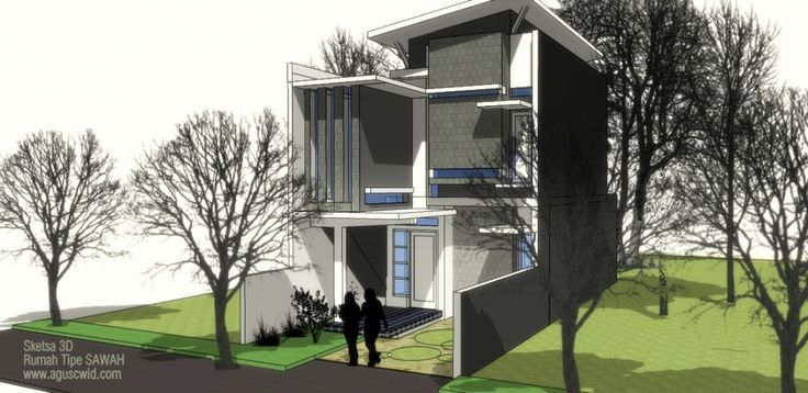Mengagumkan DESIGN 6 x 15 M, Konsep fasad/tampak rumah ini ...