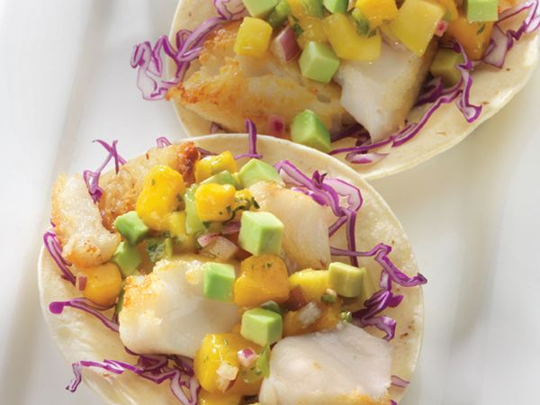 Spring Fish Tacos with Kale Tabouli Salad
