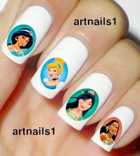 Disney Princess Nails Art Polish Manicure Cosplay by artnails1