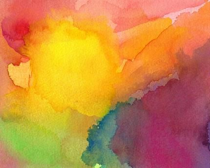 Abstract Painting, Original watercolor art yellow, Heart and Soul.via Etsy.