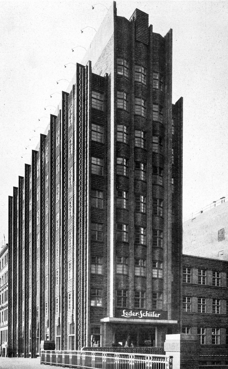 Office building, Hamburg, Architect Fritz Höger, 1928. Photo: by Carl Dransfeld (1880-1941),