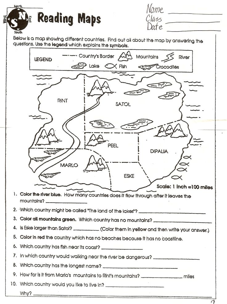 5th grade social studies map skills worksheets
