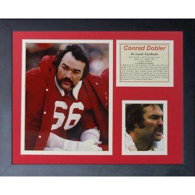 Legends Never Die Conrad Dobler Framed Memorabilia