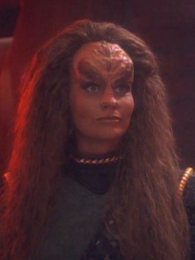 """Grilka, Quark's wife, played by Mary Kay Adams. From DS9: """"The House of Quark"""": she has to be the best looking klingon women!"""
