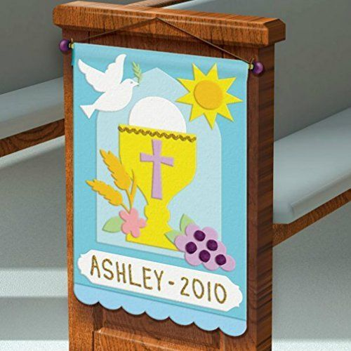 First communion pew banner decorating felt craft kit for First communion craft ideas