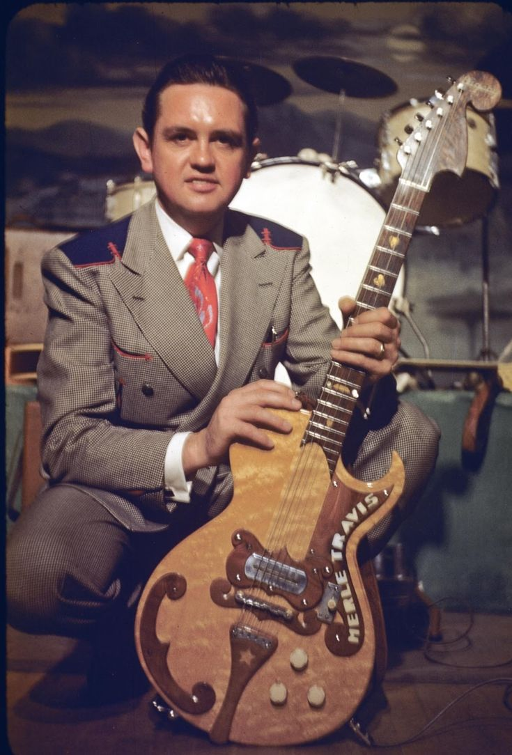 Merle Travis with his Paul Bigsby guitar