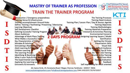 Best Train the Trainer Training in chennai   https://www.facebook.com/CORPORATEandTRAINING/videos/749117765245635/
