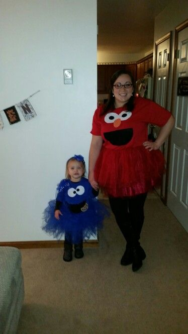 DIY Halloween costumes- Elmo and Cookie Monster!