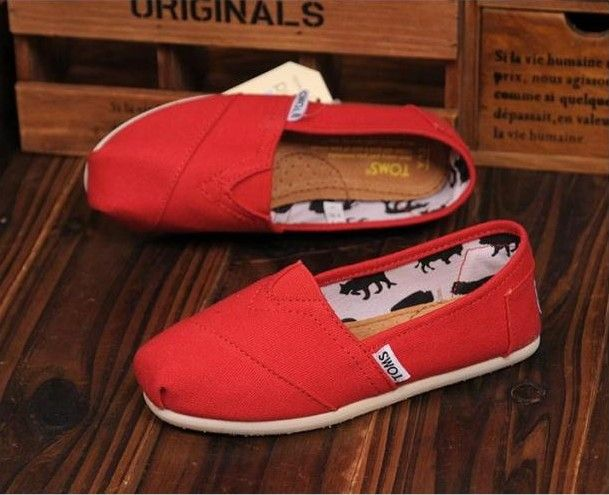 Toms Kids Shoes Red Canvas Youth Classics : Toms Outlet,Cheapest toms shoes