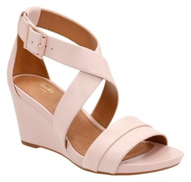 Clarks Acina Newport Ankle Strap Wedge Sandal