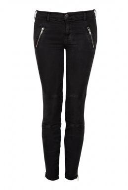 J Brand Black Agnes Zipper Jean
