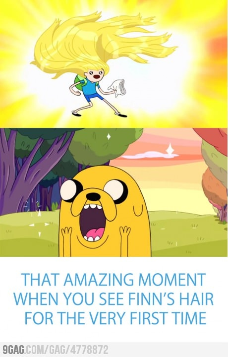 Adventure Time College - Holy cow. Finn has better hair than all the Elves in Middle-earth. Jake The  DogsAdventure Time ...