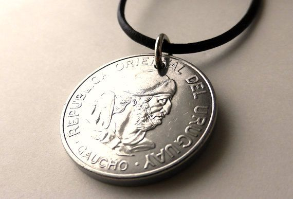 Hey, I found this really awesome Etsy listing at https://www.etsy.com/listing/214393435/uruguayan-coin-necklace-leather-necklace