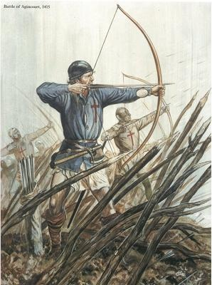Longbow Men At The Battle Of Agincourt.