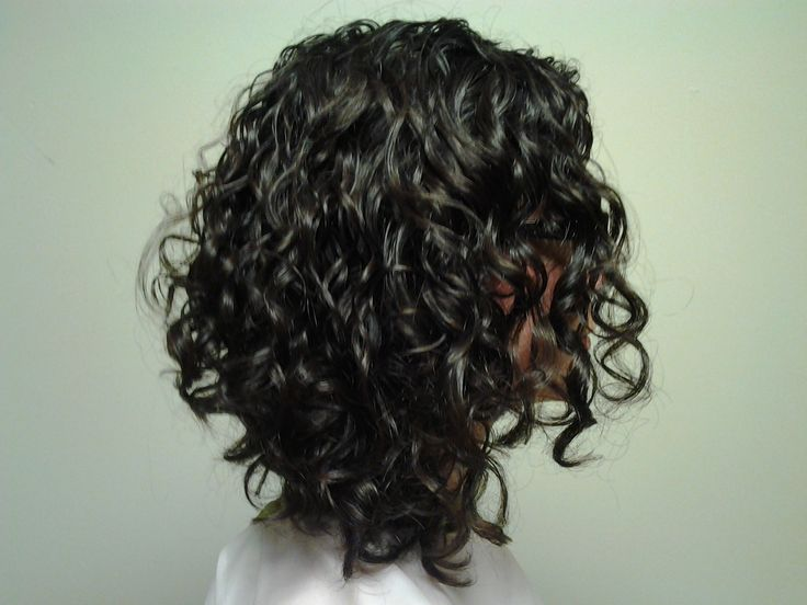inverted naturally curly bob front view - Google Search
