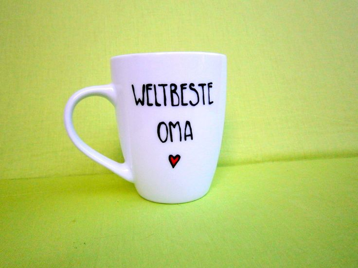 Tasse  WELTBESTE OMA  Tasse für Oma  Oma Tasse von hochdietassen via dawanda.com
