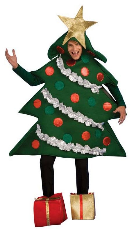 Christmas Tree Costume Adult $47.64 foam christmas tree body cover with attached decorations as shown and a pair of christmas present shoe covers. Christmas Costumes. Funny Christmas Costumes. http://www.halloweencostumes4u.com/prods/rub889346.html