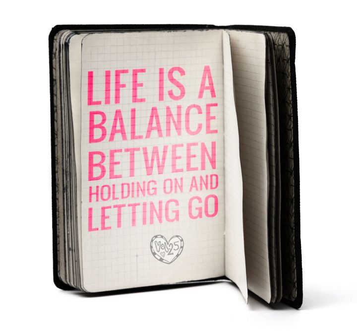 """Life is a balance between..."""
