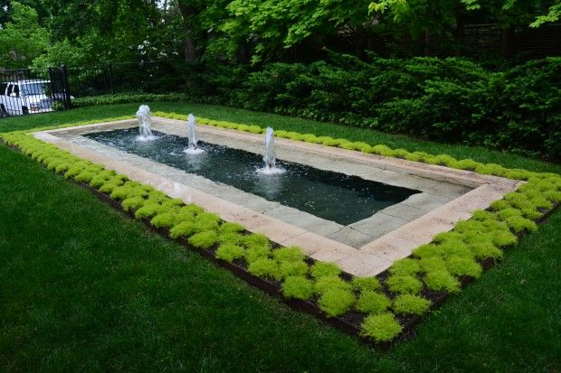 Fountain reflecting pool water features pools ponds for Garden reflecting pool
