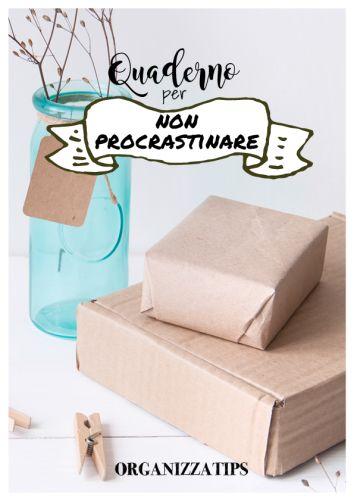 Organizzatips - Quaderno per non procrastinare