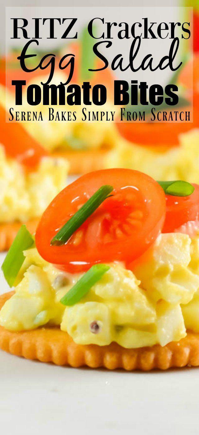 #Ad RITZ Crackers Egg Salad-Tomato Bites the perfe…