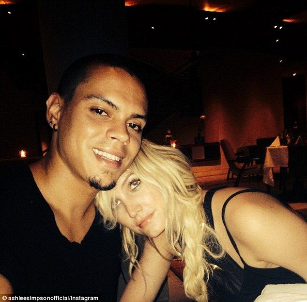 Happily married: Ashlee Simpson shared this Instagram image with new husband Evan Ross on ...