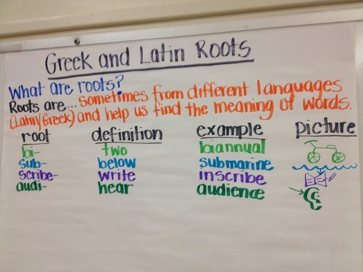 Greek Latin Roots Words 57