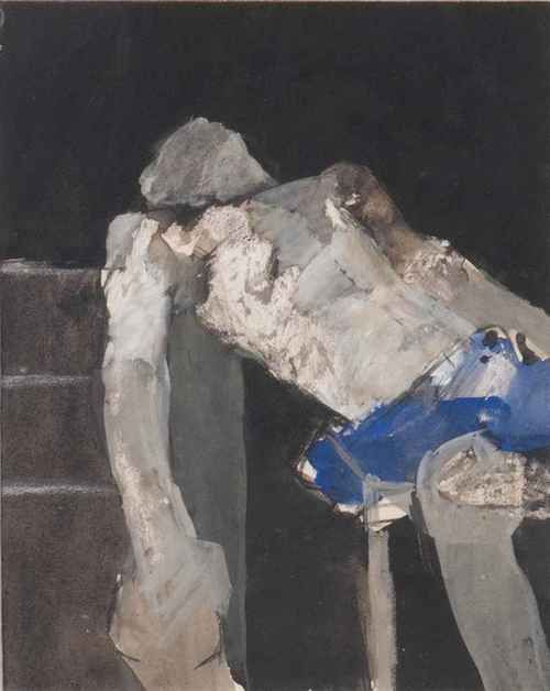 Keith Vaughan (English, 1912-1977), Study of Boxer, 1965. Ink and gouache, 11 x 8½ in.