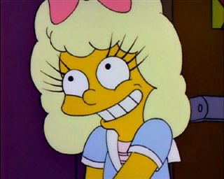 Girl: Eyelash implants. Lisa: I thought those were illegal. Girl: Not in Paraguay.