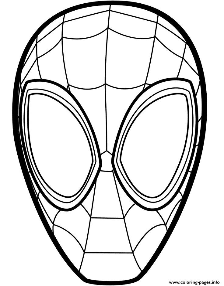 Spider Man Mask Marvel Comics In 2020 Spiderman Coloring Spider Verse Coloring Pages