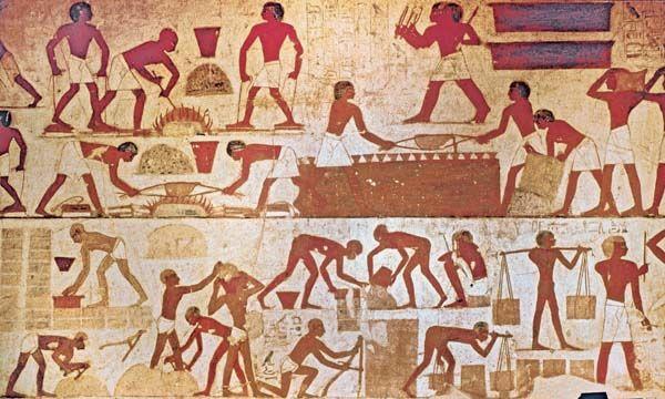 Black Hebrews Making Bricks In Egypt