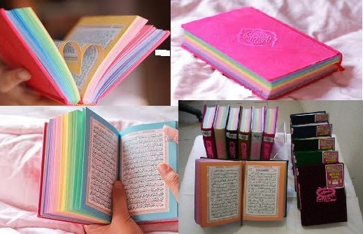 You can get Al-Quran in rainbow pages at www.annorastopby.com .. aku mok al quran tok