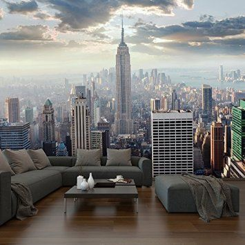 walplus gro e new york sonnenaufgang tapete foto wandbild innenraum. Black Bedroom Furniture Sets. Home Design Ideas