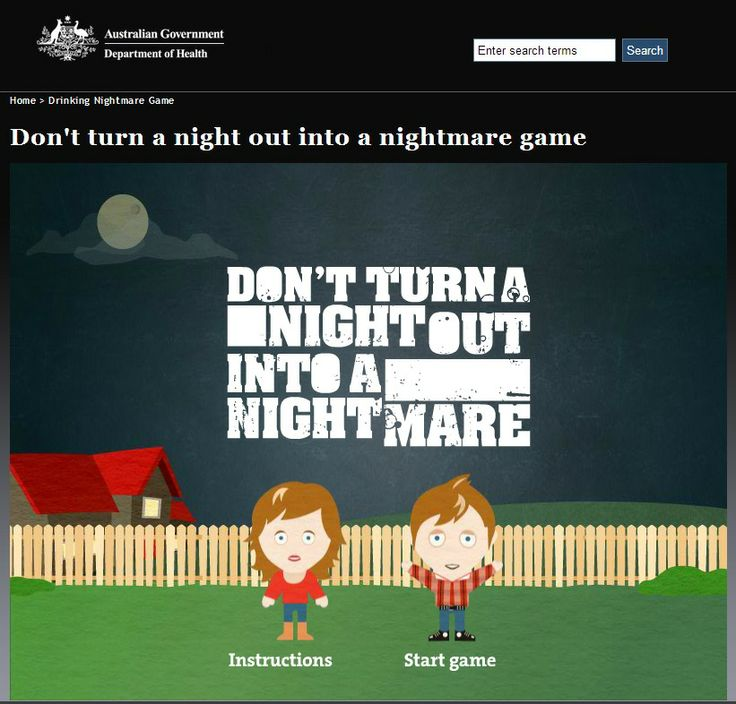 Don't turn a night out into a nightmare game - Australian Government
