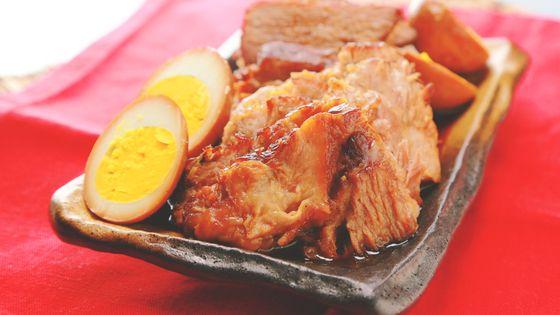 ■材料 4人分 ・豚肩ブロック肉 600g ・ゆで卵 2個 ・にんに...