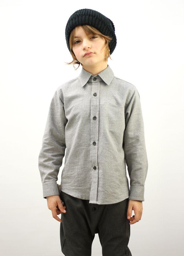 Antoine Shirt Grey #motoreta #kids AW14 #lookbook