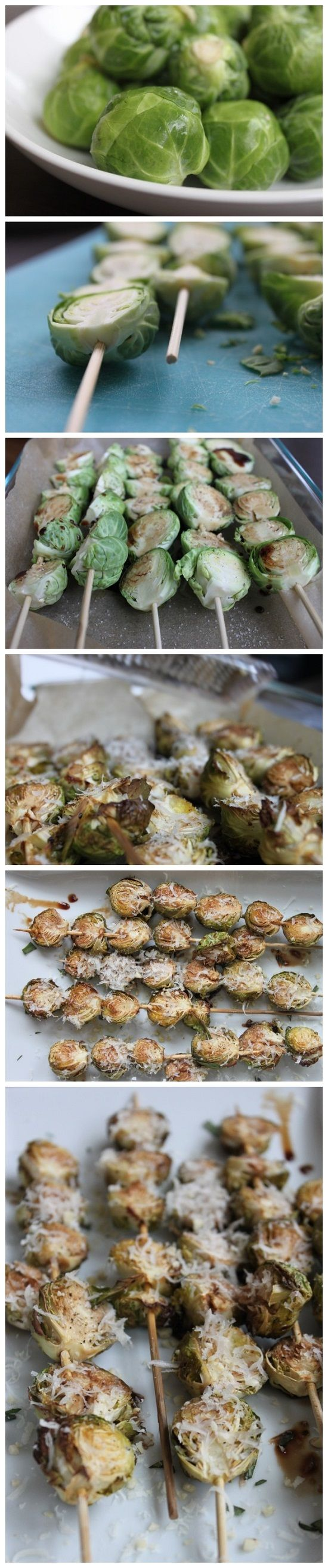 Balsamic-Glazed Brussels Sprouts w/Crushed Pine Nuts & Parm