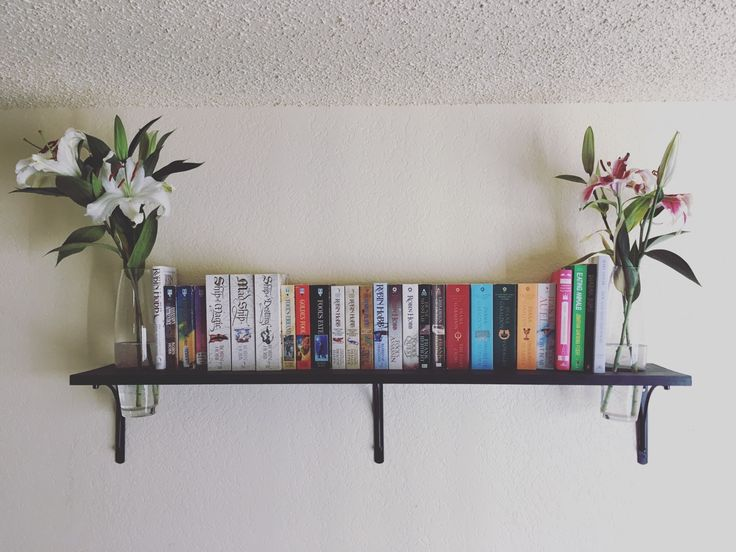 """morethanyabooks: """"Treat yo shelf…with flowers! This week I have these wonderfully aromatic lilies, and I couldn't help but share them with you all! """""""