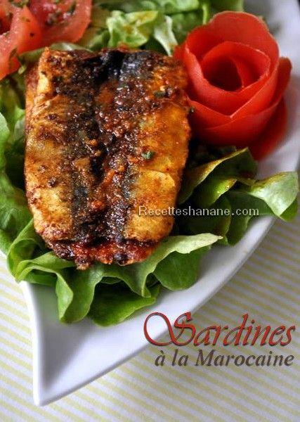 &Les sardines à la chermoula&, est un plat traditionnel marocain très connu, vous avez peut être déjà vu cette photo car il s'agit d'une des recettes que j'ai proposé l'année dernière dans le magazine Gazelle ... Pour 4 à 6 personnes 1kg de sardines 2...